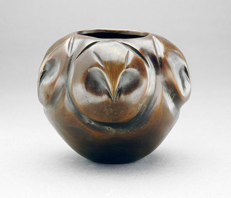"Quail Bowl - bronze 5"" wide"